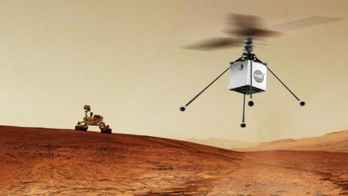 ناسا - المريخ - هليكوبتر