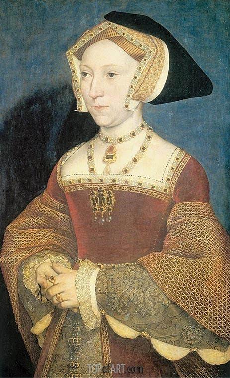 صورة لملكة إنجلترا جين سيمور التي فارقت الحياة بسبب حمى النفاس
