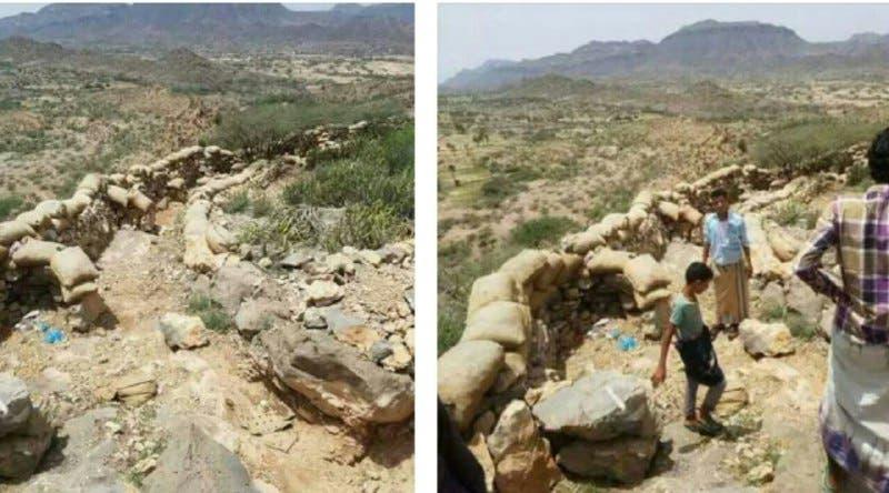 تصاویری از سنگرهای متروکه حوثیها