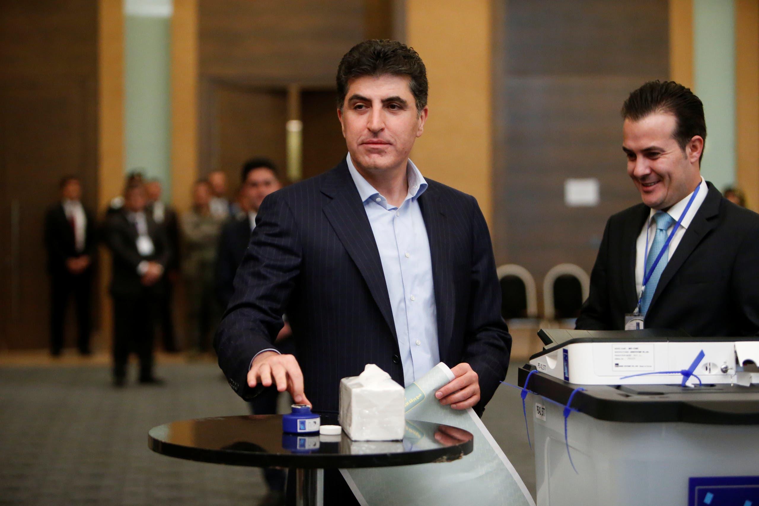 رئيس وزراء اقليم كردستان العراق نيجيرفان بارزاني ينتخب