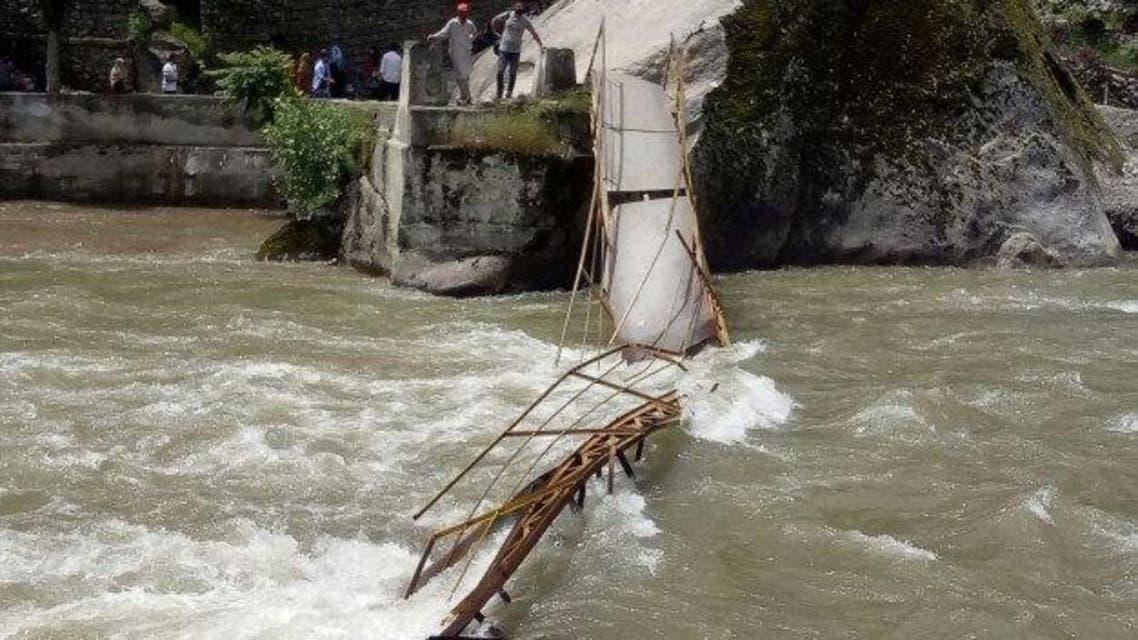 bridge collapses in Neelum Valley