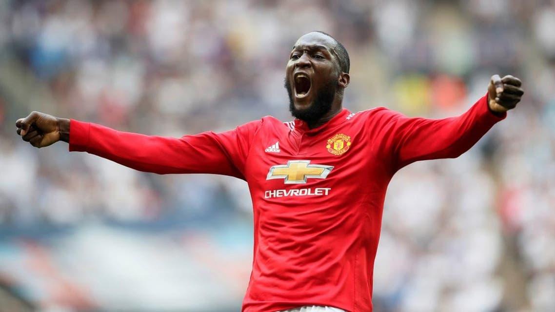 Manchester United's Romelu Lukaku celebrates a goal. (Reuters)