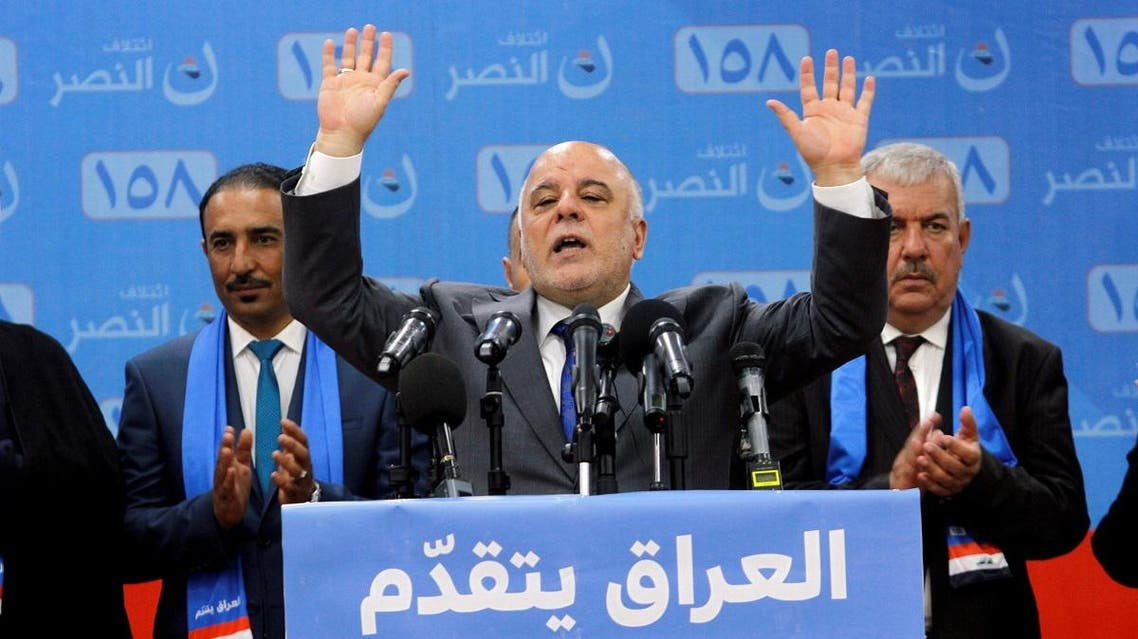 Iraqi Prime Minister Haidar al-Abadi attends the election campaign, along with his supporters in Kirkuk. (Reuters)