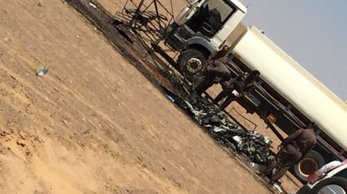 صورة متداولة لتحطم الطائرة