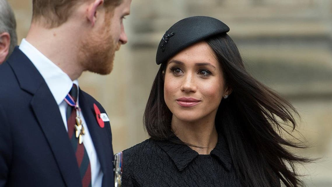 Britain's Prince Harry and his fiancee Meghan Markle attend a Service of Thanksgiving and Commemoration on ANZAC Day at Westminster Abbey in London. (Reuters)