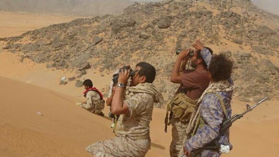 قوات الجيش اليمني في المواقع المحررة بالجوف