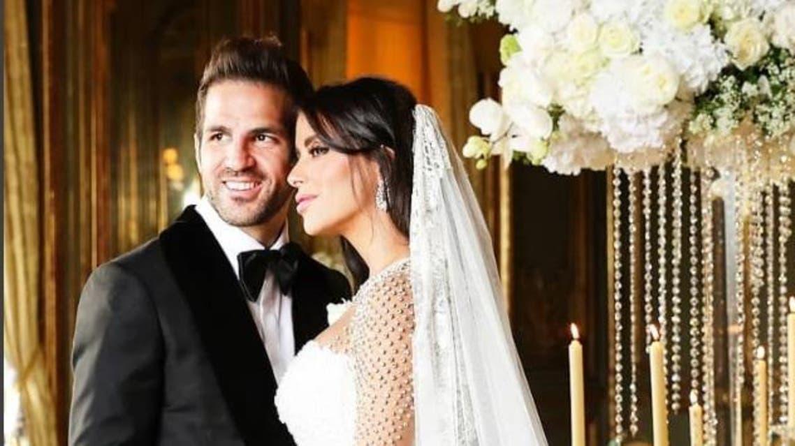 Barcelona star Fàbregas marries long-time Lebanese girlfriend (Instagram)