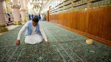 Pathway to greet Prophet Mohammad at Al-Masjid an-Nabawi ready for visitors