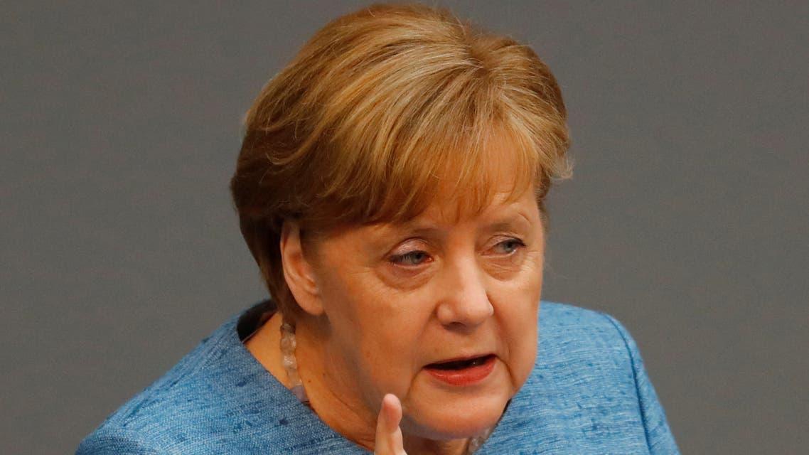 ميركل في المجلس الأدنى من البرلمان الألماني