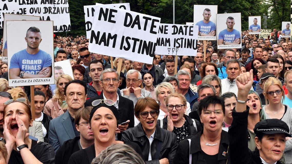 bosnia sarajevo protests. (AP)