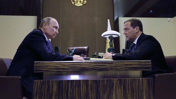 بوتين مع رئيس الوزراء الروسي ديمتري مدفيديف في سوتشي