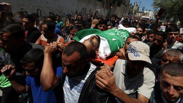 تشييع بعض ضحايا مجزرة غزة