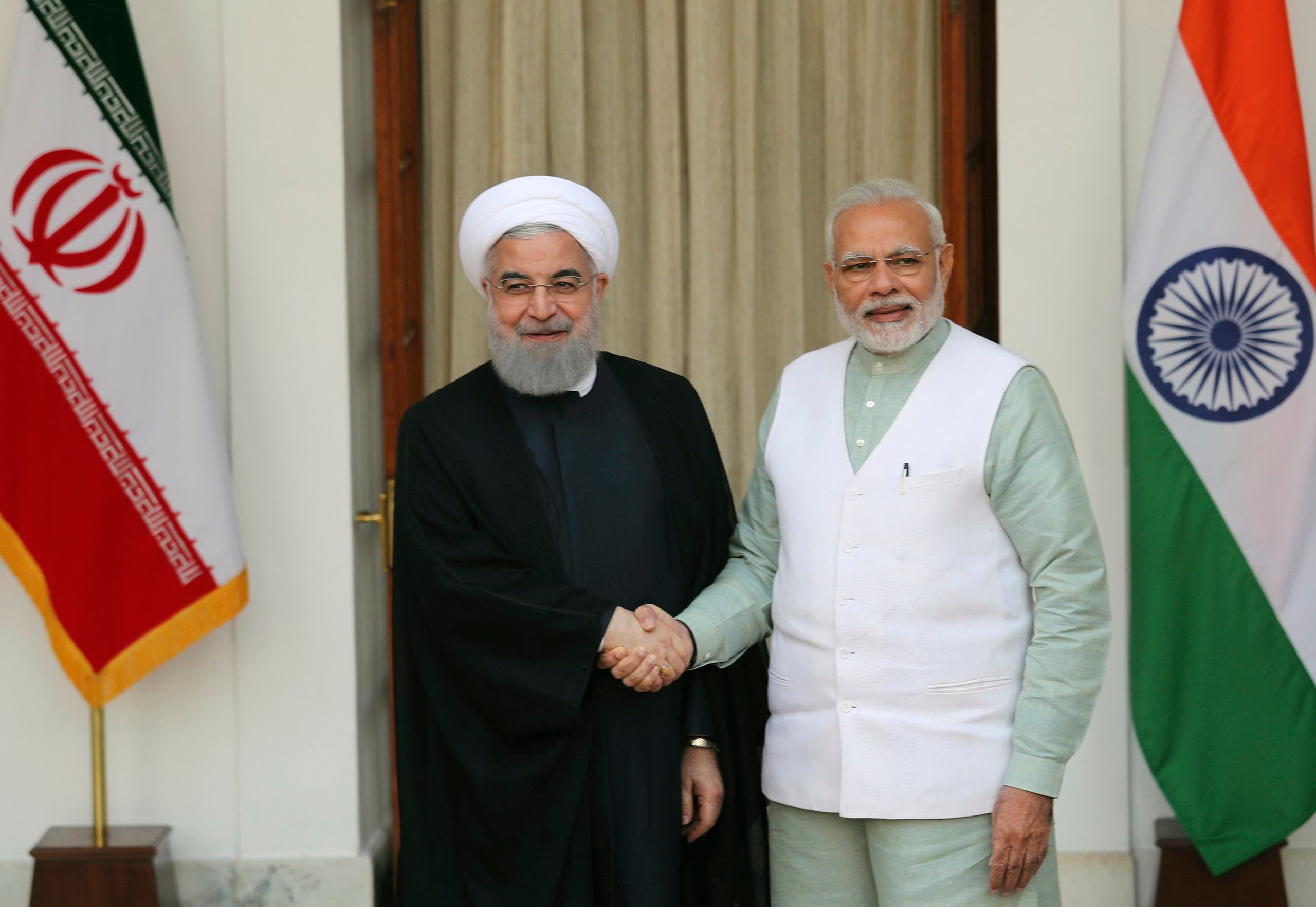 On Feb. 17, 2018 India and Iran said they will make efforts to improve energy security and regional connectivity to reach landlocked Afghanistan and Central Asia through developing Iran's Chabahar Port and road and rail routes. (AP)