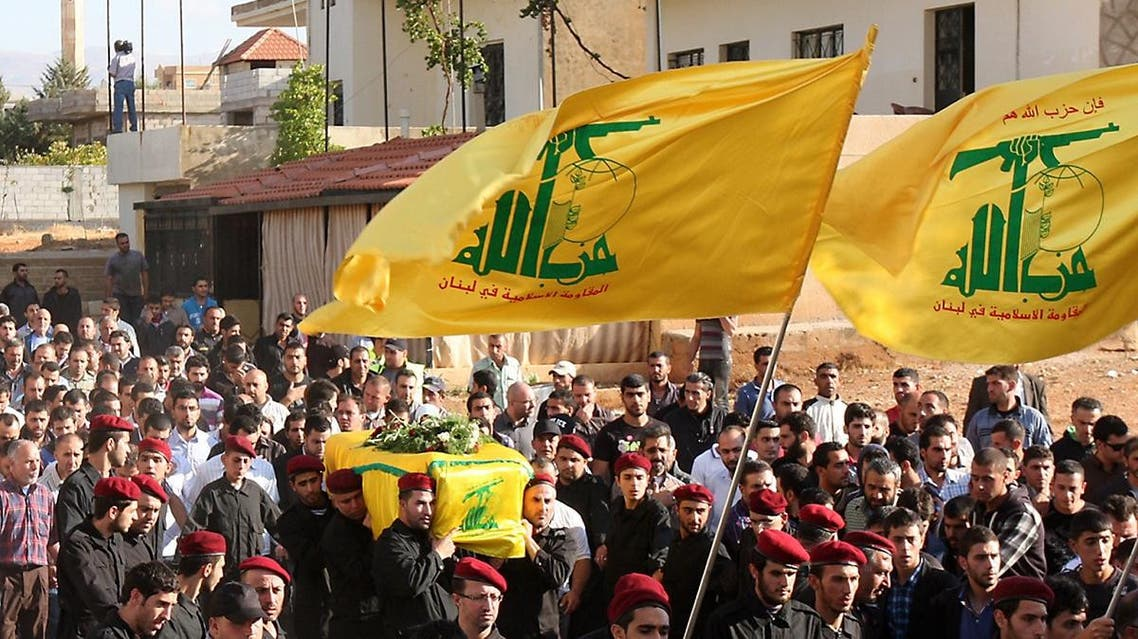 Lebanese Hezbollah militants carry the coffin of a dead militant during his funeral in the eastern city of Baalbek. (File photo: AFP)