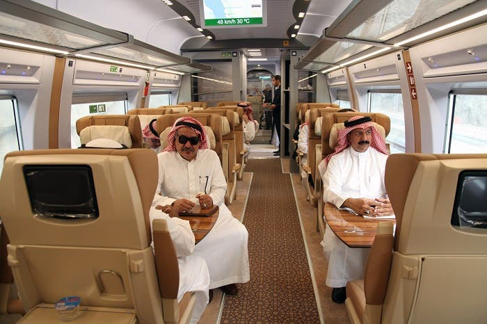 The train will cover the 450-km-long journey between Mecca and Medina in under three hours. (AFP)