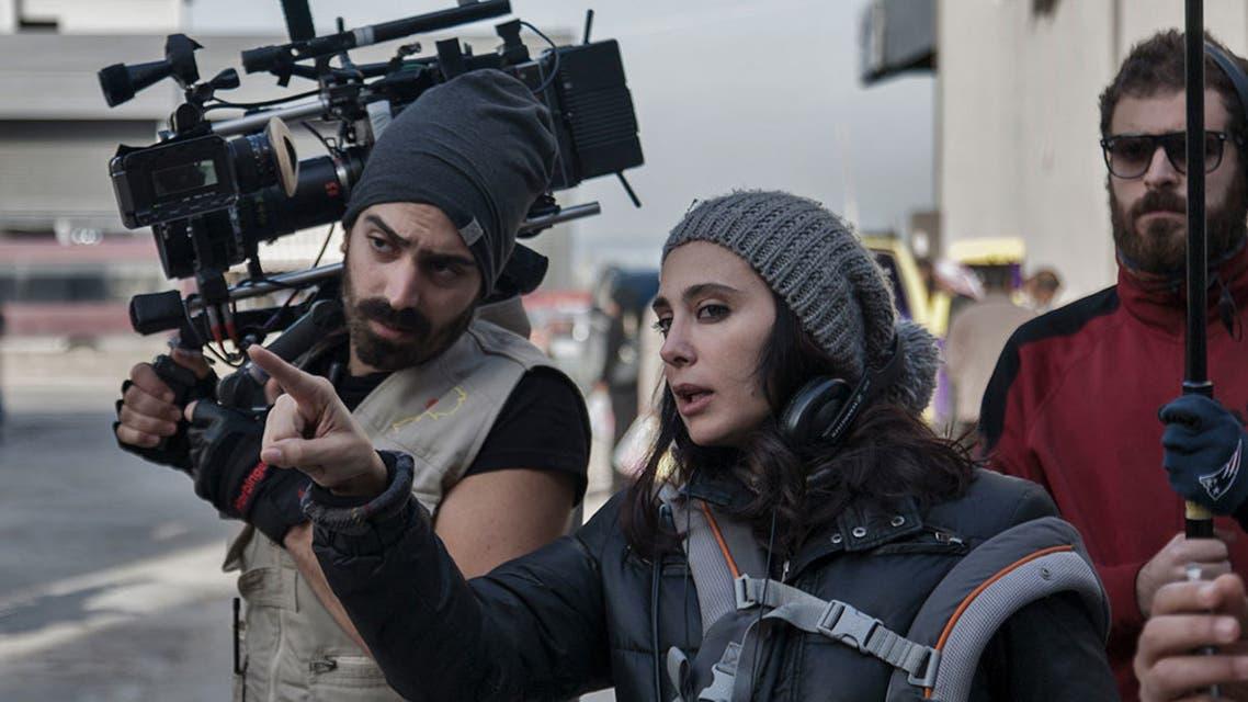 نادين لبكي اثناء إخراج فيلمها الجديد كفر ناحوم
