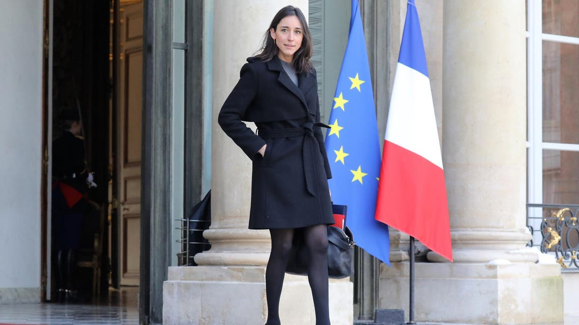 French Minister Brune Poirson leaves the Elysee palace following the weekly Cabinet meeting on February 8, 2018 in Paris. (AFP)