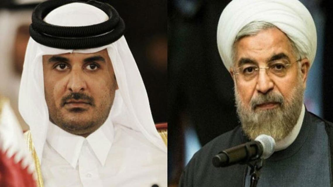أمير قطر وروحاني