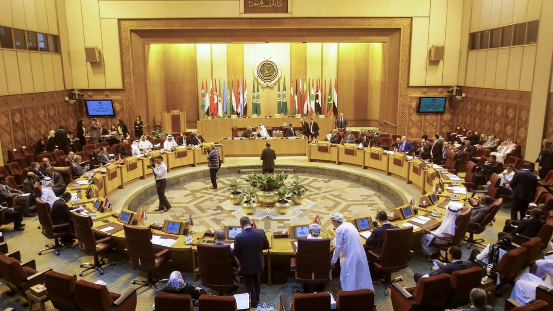 Arab League extra-ordinary emergency session in progress in Cairo on May 16, 2018. (AFP)