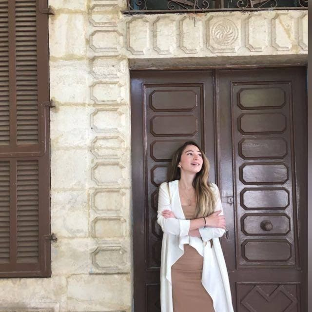 Widy infront of her grandparents house in Rahbee town north of Lebanon. (Supplied)