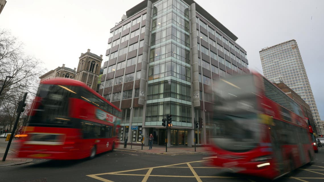 The building housing the Cambridge Analytica office is seen in central London. (Reuters)