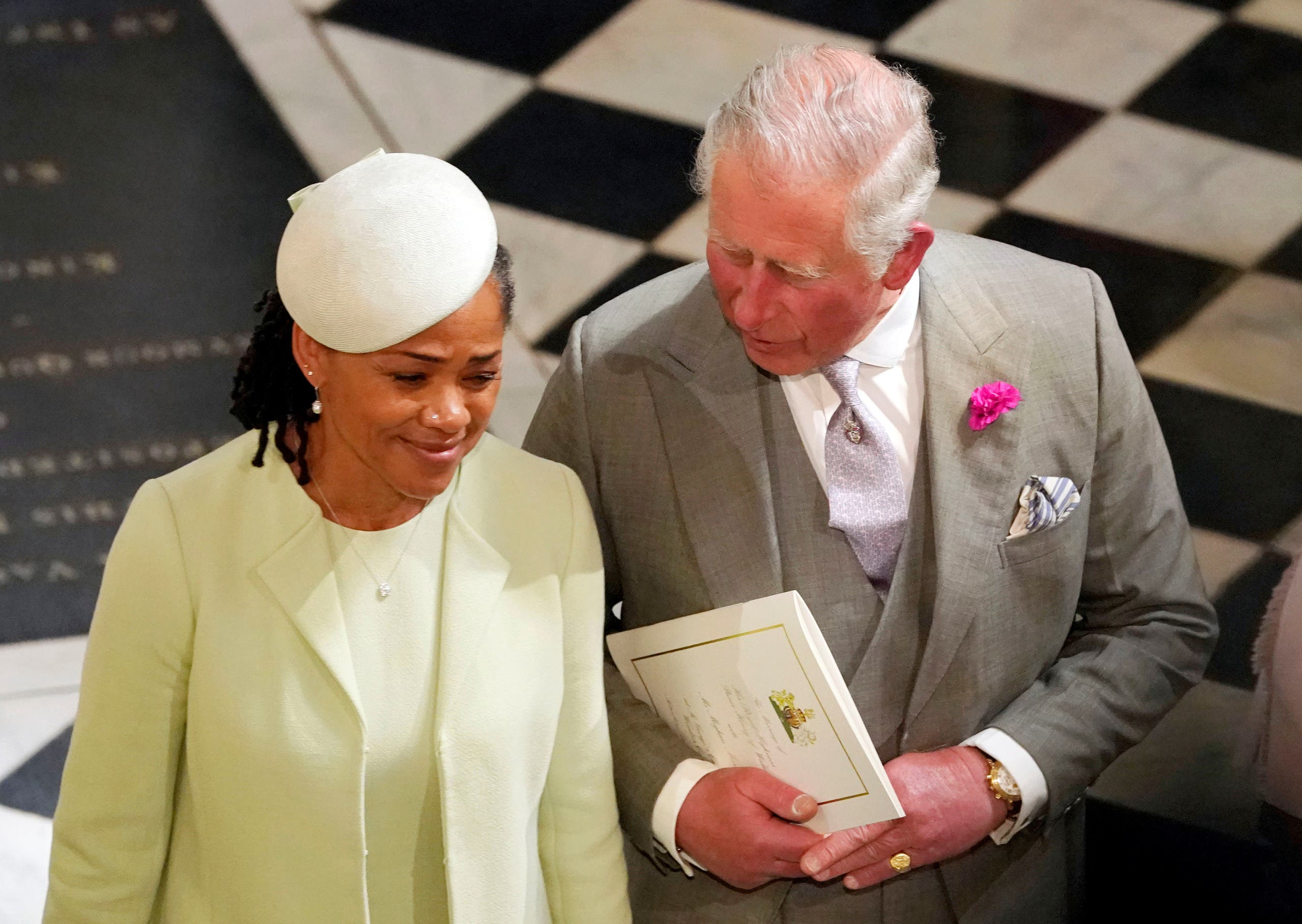The Prince of Wales and Doria Ragland, mother of the bride, depart from St George's Chapel in Windsor Castle after the wedding of Prince Harry and Meghan Markle in Windsor, Britain, May 19, 2018. Owen Humphreys/Pool via REUTERS