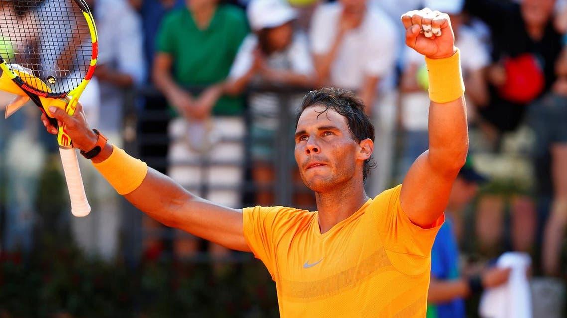 Spain's Rafael Nadal celebrates winning his semi-final match against Serbia's Novak Djokovic (Reuters)