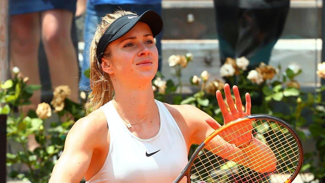 Ukraine's Elina Svitolina celebrates winning her semi final match against Estonia's Anett Kontaveit. (Reuters)