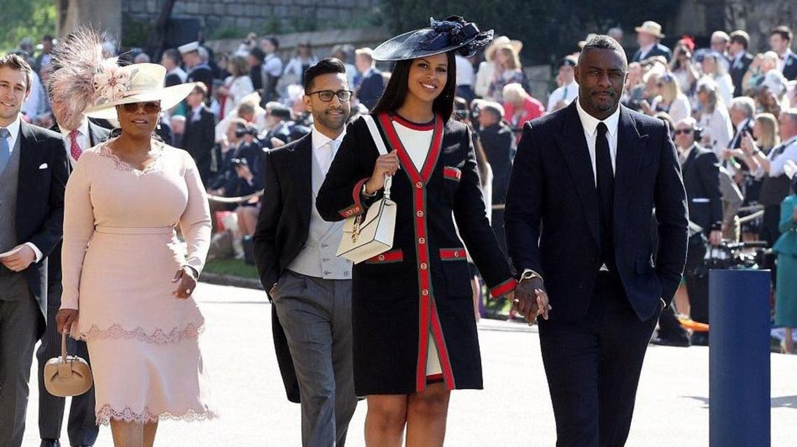 Oprah Winfrey and Idris Elba were among the celebrities in the pews at St. George's Chapel. (Twitter)