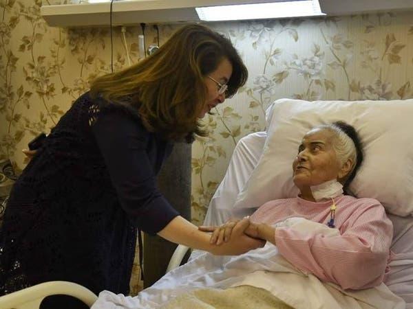 بالصور.. مديحة يسري قبل نقلها إلى المستشفى العسكري