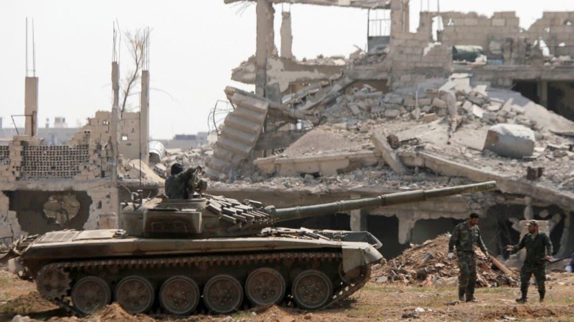 عناصر من قوات النظام في دمشق