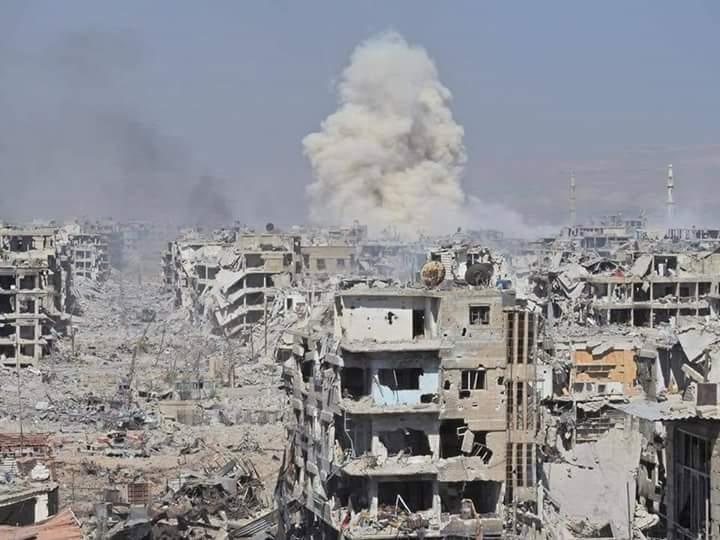 جانب من الدمار بسوريا (أرشيفية)