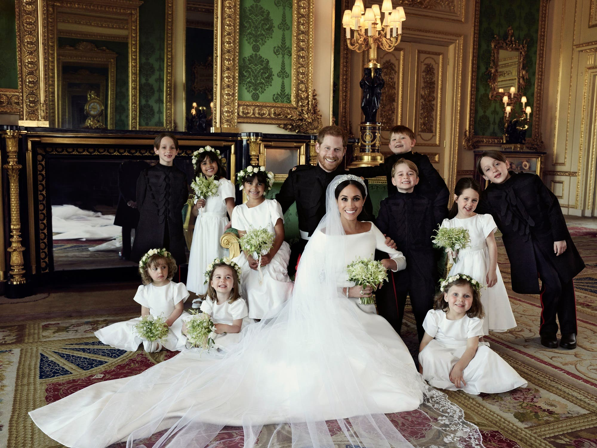 The photographs were taken by photographer Alexi Lubomirski at Windsor Castle following the carriage procession.