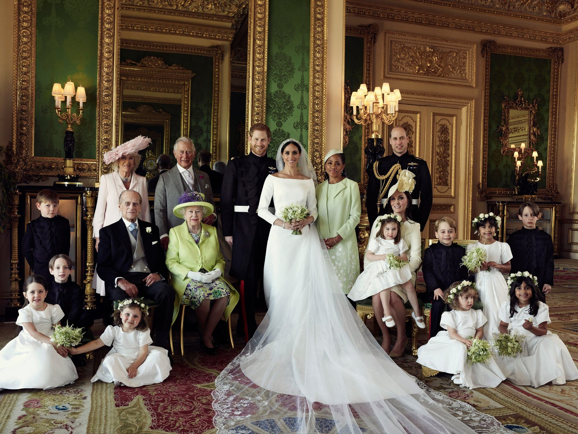 The Duke and Duchess of Sussex have released three official photographs from the wedding day of Prince Harry and Meghan Markle. (AFP)