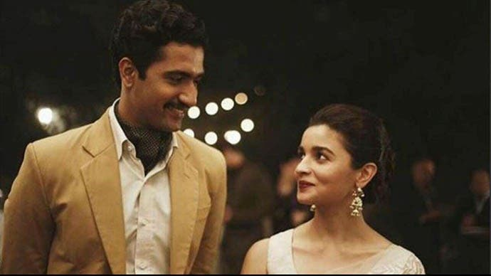 Alia Bhat (Sehmat) with her Pakistani husband Iqbal played by Vicky Kaushal. (Supplied)