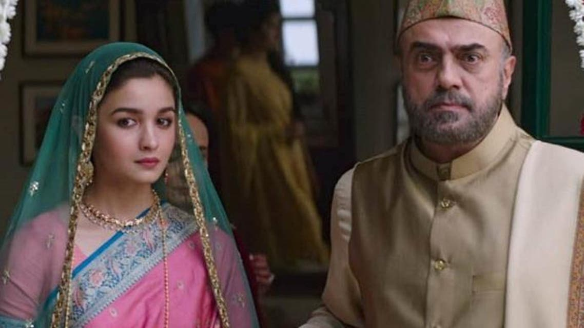Alia Bhat (Sehmat) with Rajit Kapur who is cast as her father, Hidayat Khan. (Supplied)