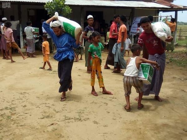 أكثر من 300 سلة غذائية من مركز الملك سلمان إلى ميانمار