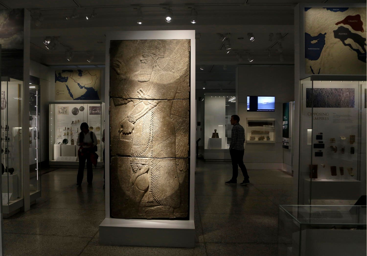 Part of the Middle East gallery is displayed at the Penn Museum in Philadelphia. The University of Pennsylvania Museum of Archaeology and Anthropology is opening the galleries to showcase previously undisplayed items, and is making the artifacts more relatable by adding guides native to those parts of the world. (AP)
