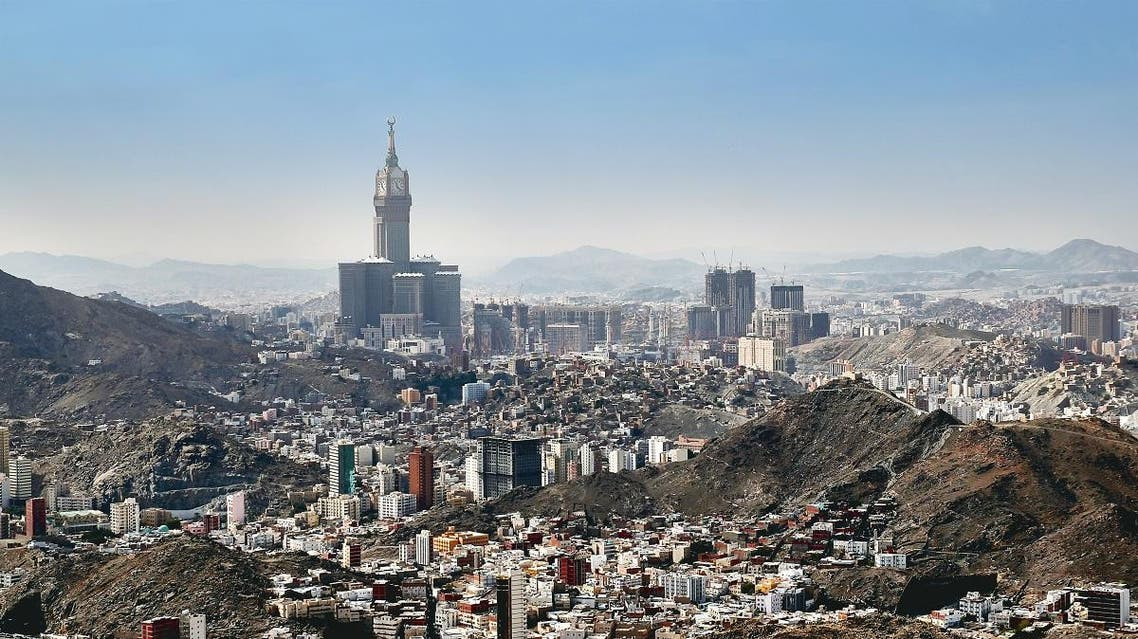 Aerial view of skyline of Mecca holy city in Saudi Arabia. (Shutterstock)