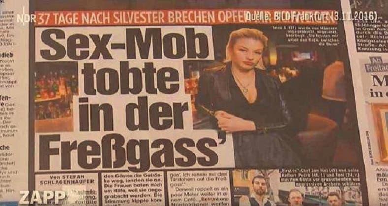 الإعلام الألماني أبرز التلفيقة رئيسية بمواقعه، للإشارة إلى سلبيات اللاجئين المسلمين في ألمانيا