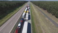 WATCH: 20-km-long traffic jam on highway towards Germany