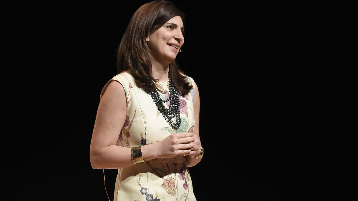 Stacey Cunningham speaks during The Tory Burch Foundation 2018 Embrace Ambition Summit at Alice Tully Hall on April 24, 2018 in New York City. (AFP)