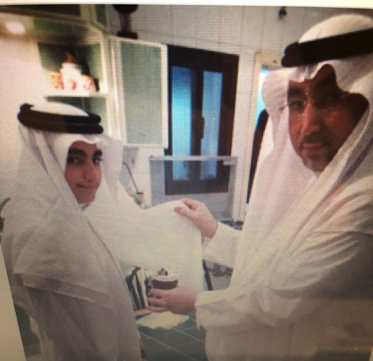 Cancer patient Yousef Yasser Khawja and father. (Supplied)