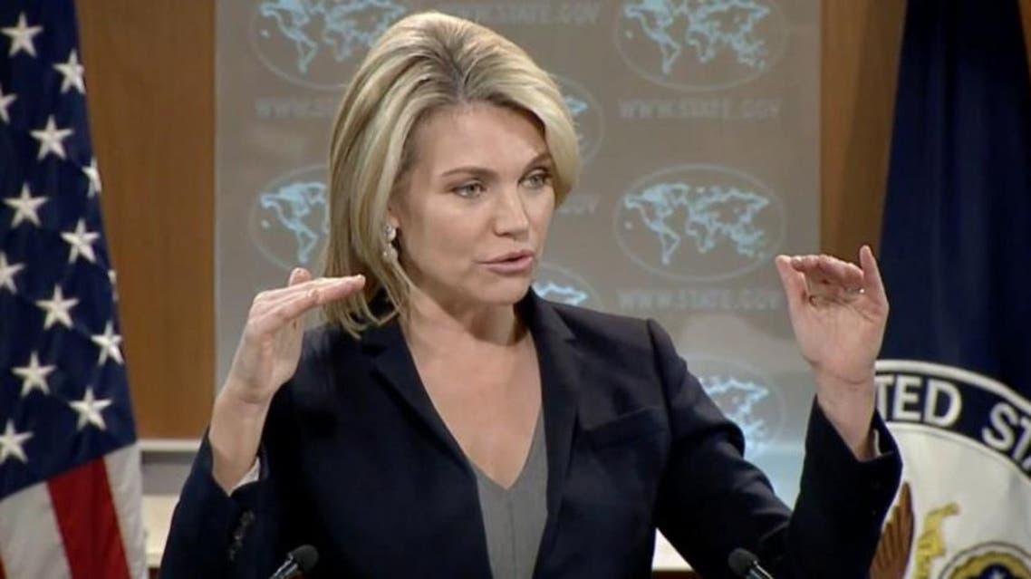 هیدر نائورت سخنگوی وزارت امور خارجه آمریکا