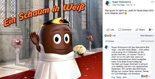 Meghan Markle as brown marshmallow stirs controversey. (Social Media)