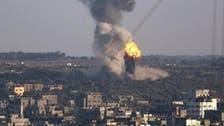 إسرائيل تقصف مواقع حماس غرب غزة