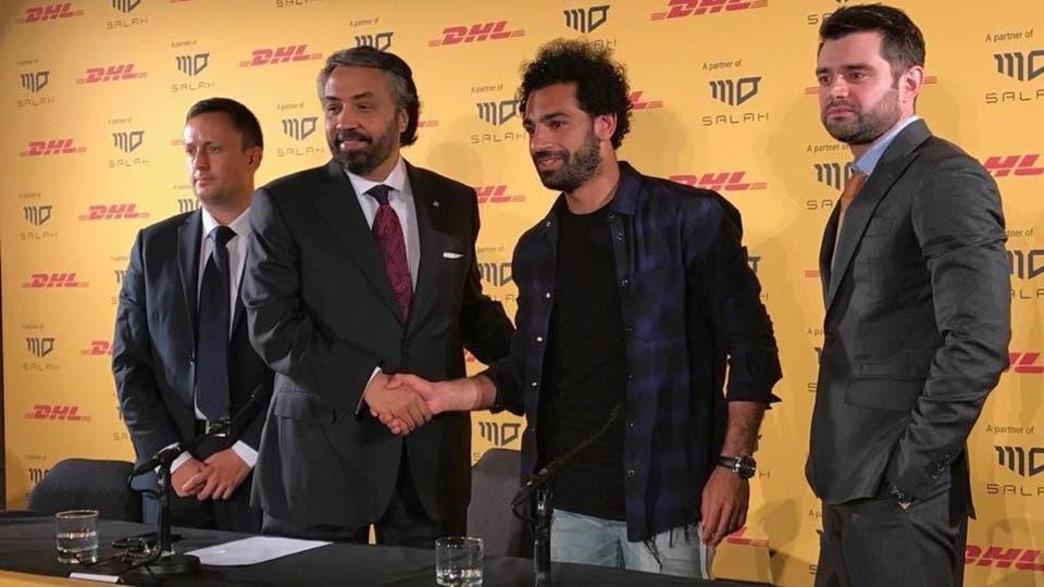 شراكة بين Dhl العالمية واللاعب المصري محمد صلاح
