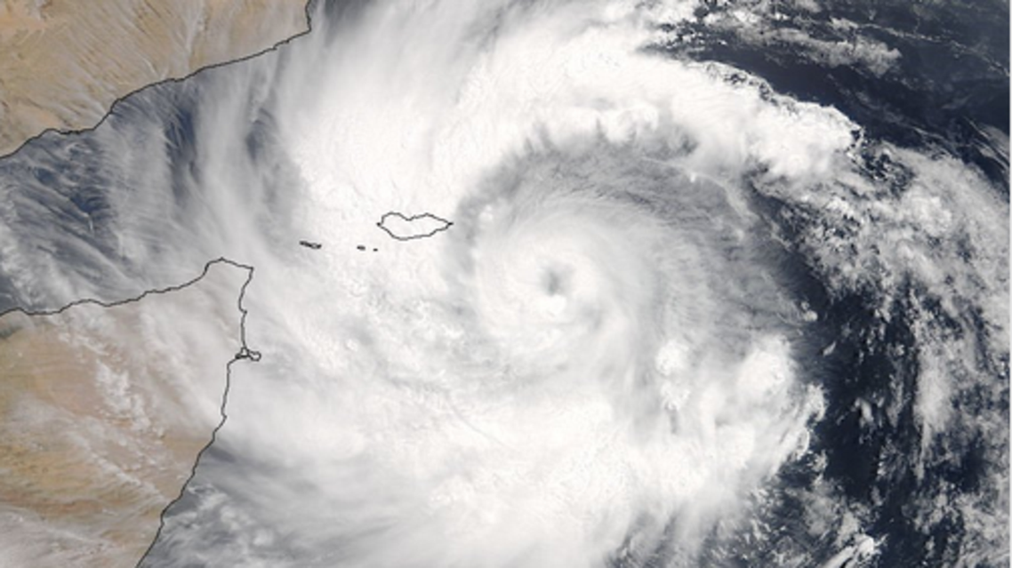 mekunu cyclone yemen. (NASA)
