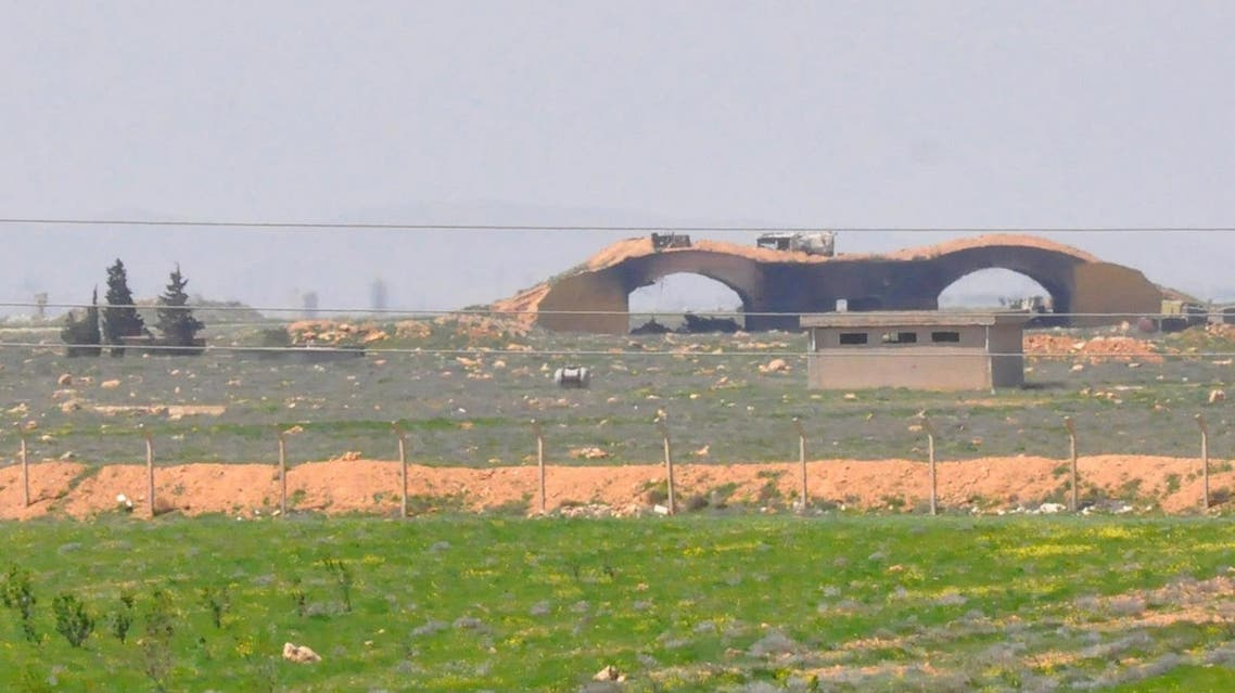A picture taken on April 7, 2017 shows a view of the damaged Shayrat airfield at the Syrian government forces military base targeted by US cruise missiles, southeast of the central and third largest Syrian city of Homs. (AFP)