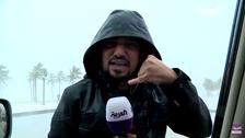 """موفد """"العربية"""" في تغطية صعبة للغاية من قلب إعصار مكونو"""